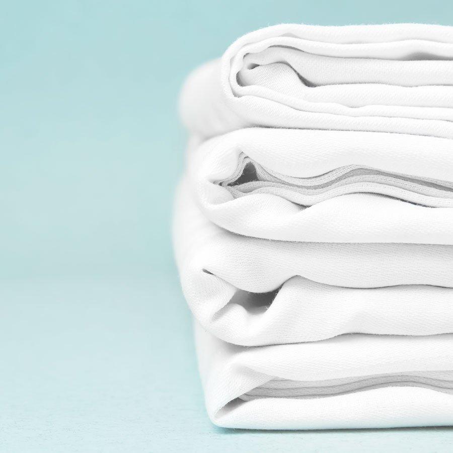 Nous recyclons - Vieux draps de lit