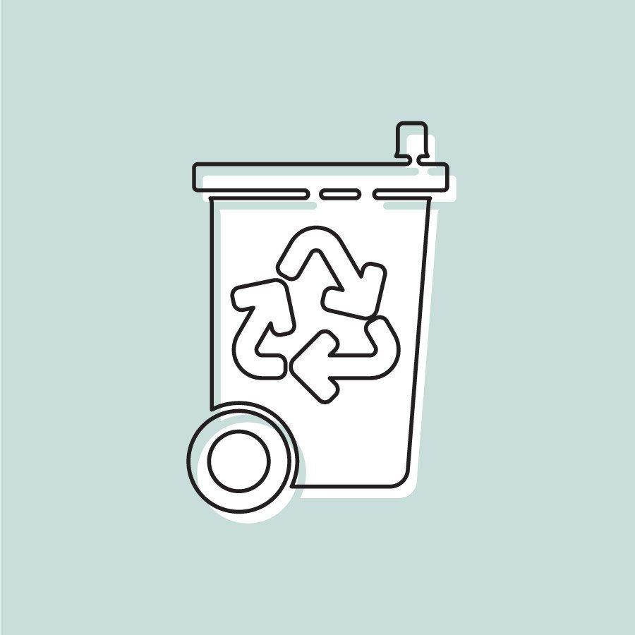 Nous recyclons - Poubelle de recyclage